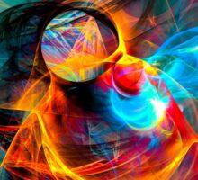 Hummingbird - Colorful Digital Fractal Abstract Art  Sticker