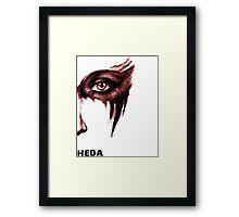 Heda Face Framed Print
