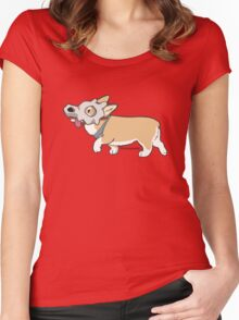 Corgi Cubone Women's Fitted Scoop T-Shirt