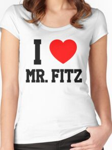 I Love Mr. Fitz Women's Fitted Scoop T-Shirt