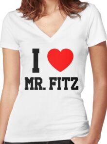 I Love Mr. Fitz Women's Fitted V-Neck T-Shirt