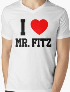 I Love Mr. Fitz Mens V-Neck T-Shirt