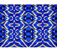 pacific pattern in Blue/Gold. VividScene Photographic Print
