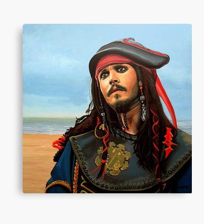 Johnny Depp as Jack Sparrow Painting Canvas Print
