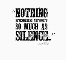 Authority Silence Free Speech Protest Unisex T-Shirt