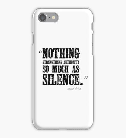 Authority Silence Free Speech Protest iPhone Case/Skin