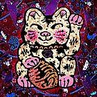 'Shiny Lucky Cat #2' by ellejayerose