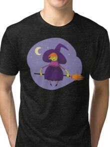 Happy Green Witch  Tri-blend T-Shirt
