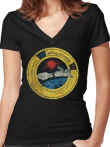 Apollo Soyuz Vintage Emblem Women's Fitted V-Neck T-Shirt