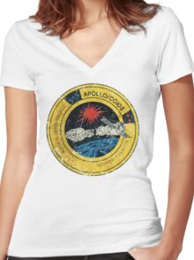 Apollo Soyuz Vintage Emblem Women's Fitted V-Neck T-Shirt