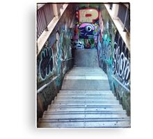 The Spanish Steps. To go or not to go. Subway graffiti. Canvas Print