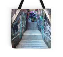 The Spanish Steps. To go or not to go. Subway graffiti. Tote Bag