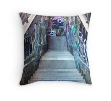 The Spanish Steps. To go or not to go. Subway graffiti. Throw Pillow