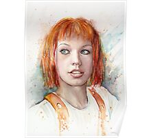 Leeloo Multipass Portrait - The Fifth Element Poster