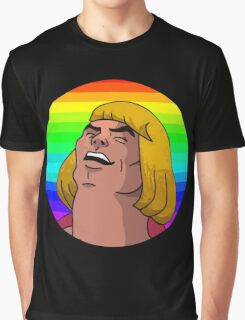 Rainbow He-Man Graphic T-Shirt