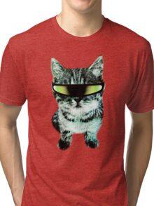 Beach Cat is ready to make waves (Guys) Tri-blend T-Shirt