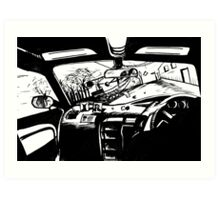 Thou shalt expect anything when catching  a taxi Art Print