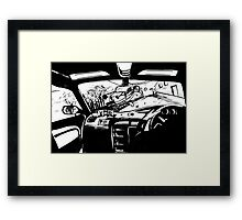 Thou shalt expect anything when catching  a taxi Framed Print