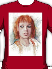 Leeloo Multipass Portrait - The Fifth Element T-Shirt