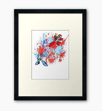 Mega & Proto Framed Print