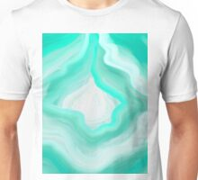 AGATE BLUE GREEN AND WHITE Unisex T-Shirt