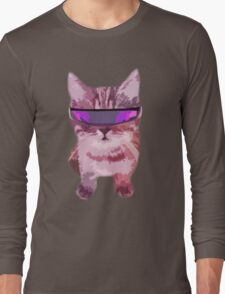 Beach Cat is ready to make waves (Girly) Long Sleeve T-Shirt