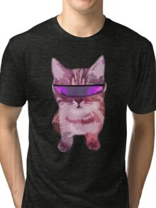 Beach Cat is ready to make waves (Girly) Tri-blend T-Shirt