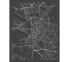 Dusseldorf Map, Germany - Gray  Photographic Print
