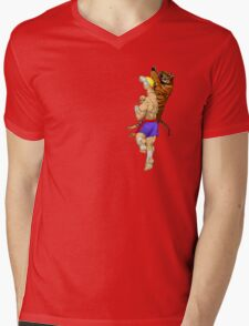Tiger Uppercut Mens V-Neck T-Shirt