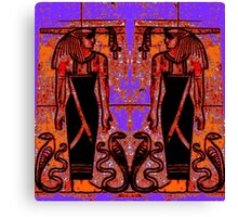 Egyptian Priests and Cobras in Garden I  Canvas Print