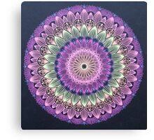 Colorful Flower Line Mandala Canvas Print