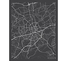 Essen Map, Germany - Gray Photographic Print