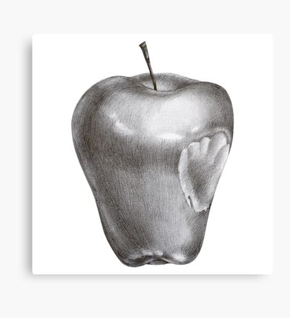 Bitten apple Canvas Print