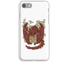 Creature Shaming Smaug iPhone Case/Skin