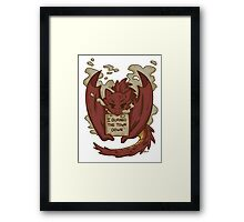 Creature Shaming Smaug Framed Print