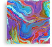 AGATE OIL PAINTING: MYSTERIOUS BLUES Canvas Print