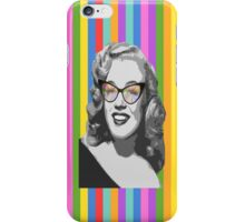 Marilyn Monroe in color glasses iPhone Case/Skin