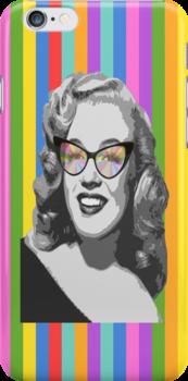 Marilyn Monroe in color glasses by benyuenkk