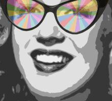 Marilyn Monroe in color glasses Sticker