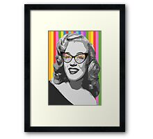 Marilyn Monroe in color glasses Framed Print