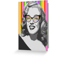Marilyn Monroe in color glasses Greeting Card