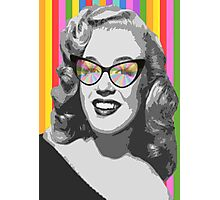 Marilyn Monroe in color glasses Photographic Print