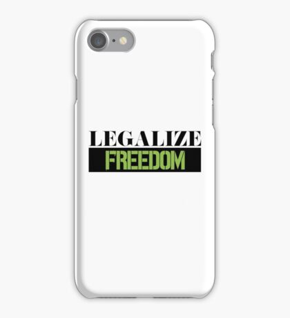Legalize Freedom Civil Rights Protest iPhone Case/Skin