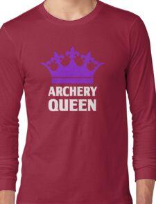 Funny Archery Queen Shirt Long Sleeve T-Shirt
