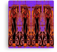 Egyptian Priests and Cobras in Garden III Canvas Print