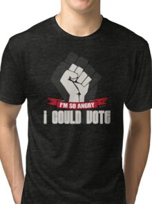 Funny Political Voting Protest Joke Tri-blend T-Shirt