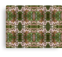 Pink & Green Blossom Pattern Canvas Print