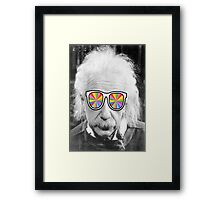 keep smart wearing glass Framed Print