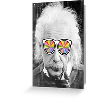 keep smart wearing glass Greeting Card