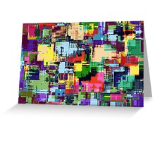 Abstract Colour Adventure Greeting Card